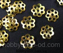 Обниматель для бусин диам. 0,6 см золото (10 000 шт в упаковке)