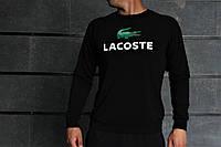 Комплект черный Свитшот с принтом Lacoste+черные штаны