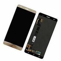 Дисплей для Asus ZenFone 3 Deluxe 5.7 (ZS570KL) + тачскрин, золотистый, Shimmer Gold, Amoled, оригинал (Китай)