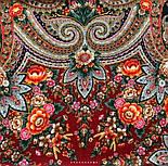 Подарок с ярмарки 1858-5, павлопосадский платок шерстяной  с шелковой бахромой, фото 5