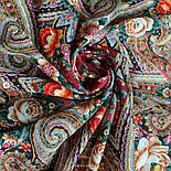Подарок с ярмарки 1858-5, павлопосадский платок шерстяной  с шелковой бахромой, фото 8