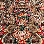 Подарок с ярмарки 1858-5, павлопосадский платок шерстяной  с шелковой бахромой, фото 4
