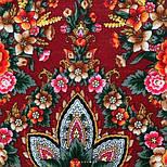 Подарок с ярмарки 1858-5, павлопосадский платок шерстяной  с шелковой бахромой, фото 6