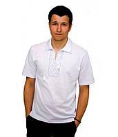 Мужская вышитая футболка крестиком «Поло», фото 1