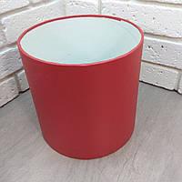 Красная шляпная коробка 20*20 с перламутром