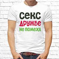 """Мужская футболка с принтом """"Секс дружбе не помеха"""" Push IT"""