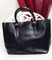 Сумку кожаную черную женскую  Майкл корс реплика , большая кожаная сумка шоппер , шопер, фото 1