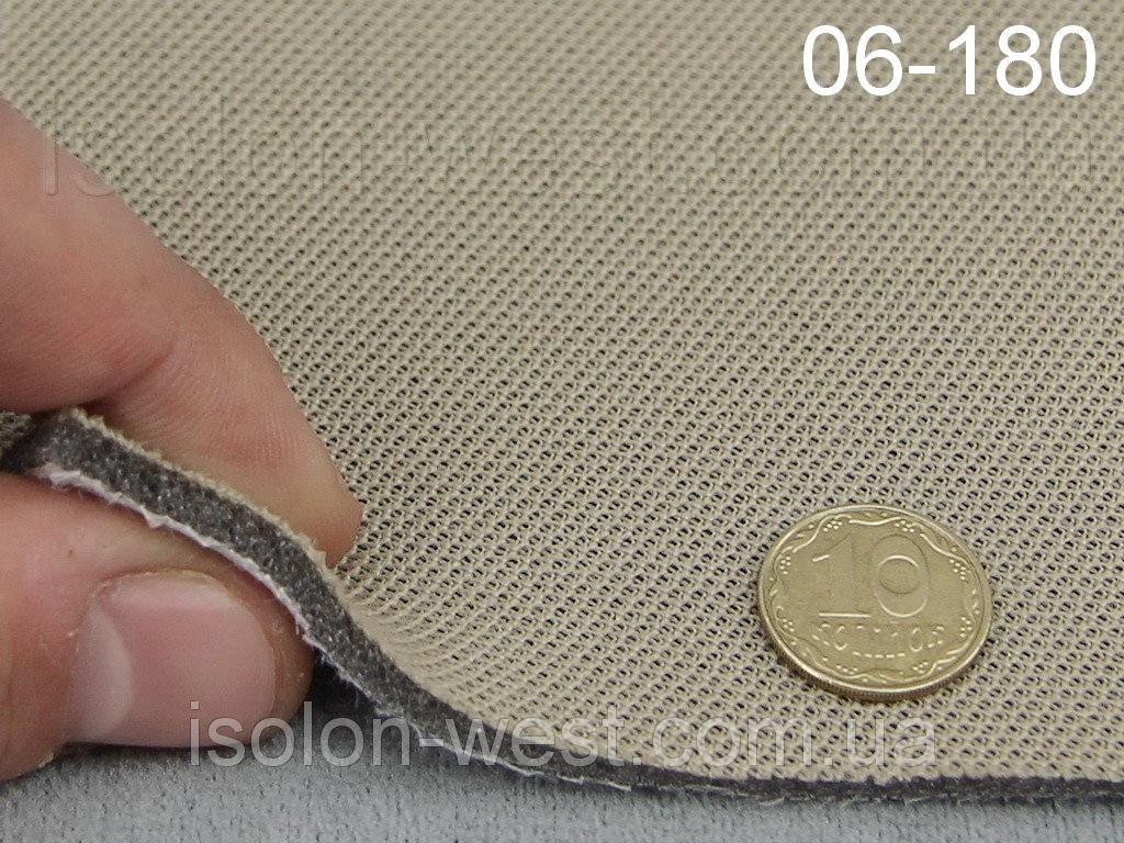 Ткань потолочная, темно-бежевый цвет 06-180 на поролоне и сетке шир. 1.80м