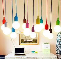 Цветные подвесные светильники
