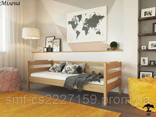 Дерев'яне ліжко Мілена (масив)  з натурального дерева.