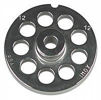 Решетка колбассная 12 мм с центр. втулкой для мясорубки мод.12 (D70/d10мм) система Enterprise