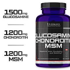 Ultimate Nutrition Glucosamine & Chondroitin MSM, Глюкозамін, Хондроїтин, МСМ (90 таб.)