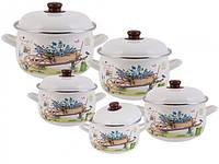 Набор эмалированной посуды Edenberg из 10 предметов (EB-1876 )