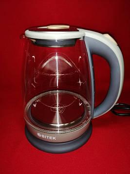 Скляний електрочайник BiTEK BT-3110 (Grey)