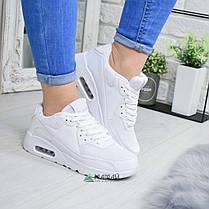 Кросівки жіночі Nike Air Max білі репліка №1980, фото 2