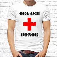 """Мужская футболка с принтом """"Orgasm donor"""" Push IT"""