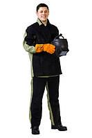Костюм рабочий для сварщика «Сварщик-2» со спилком спецодежда куртка-брюки