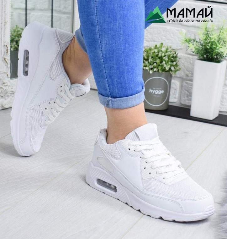 Кросівки жіночі Nike Air Max білі репліка №1980