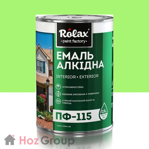 Эмаль алкидная ПФ-115 салатовая 2,8кг Ролакс