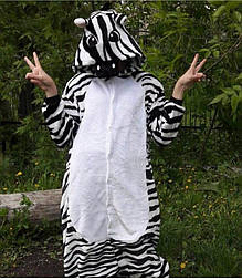 Кигуруми зебра для ребенка, подростка и взрослого v10437