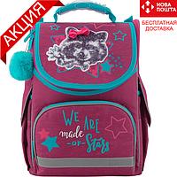 Рюкзак школьный каркасный Kite Education Fluffy racoon K19-501S-3 (ортопедический рюкзак для девочки 6-8 лет), фото 1