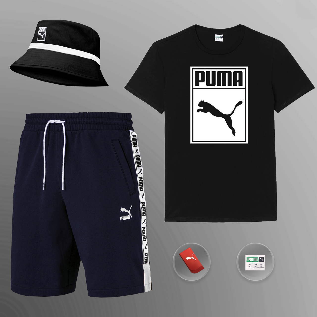 Мужской летний костюм Puma (ориг.бирка) комплект 3 в 1