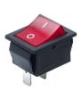 Переключатель клавишный RZ KCD4-A201T, красный, 220 В, 2 пина