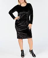 Женское черное велюровое платье Michael Kors