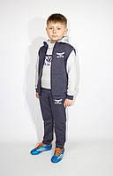 Спортивный  трикотажный  детский костюм тройка  (Украина) для мальчика   , 98-104-110-116 рост