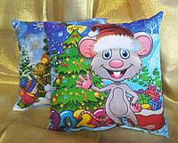 Новогодняя сувенирная подушка 2020 Крысик