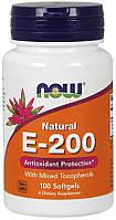 Вітамінна добавка NOW Foods Vitamin E-200 IU Mixed Tocopherols Softgels 100 caps