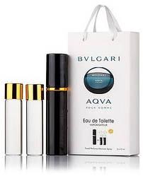 Подарочный набор Bvlgari Aqva Pour Homme edt 3X15 ml, мужская туалетная вода!