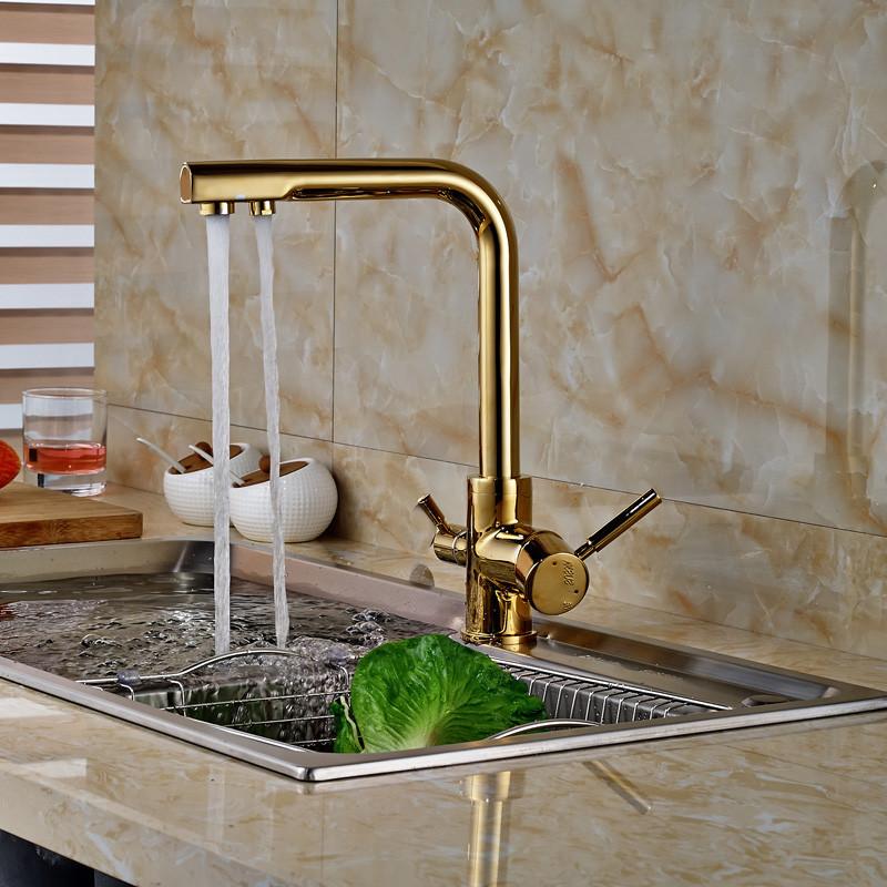 Кухонный смеситель BLUE WATER ALABAMA - Старое золото