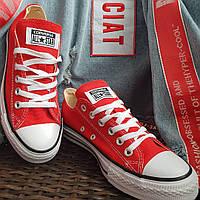 Кеды  All Star Chuck Taylor красные низкие, фото 1