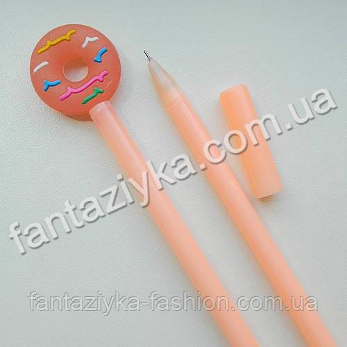 Ручка гелевая Пончик персиковый
