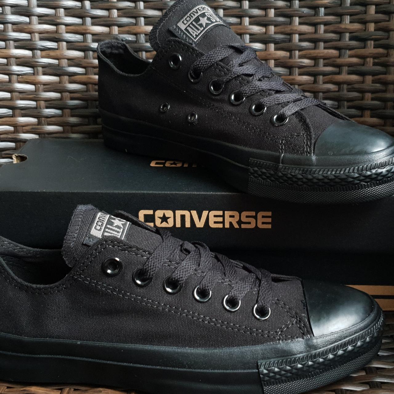 Кеды  All Star Black Monochrome (черные низкие)