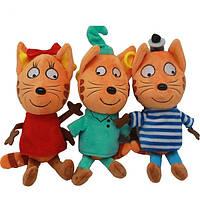 Мягкие игрушки Три Кота набор из трех музыкальных игрушек - Компот, Карамелька, Коржик