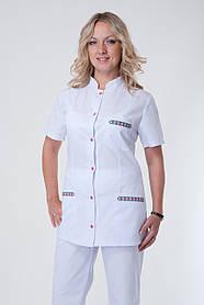 Женский медицинский костюм с коротким рукавом
