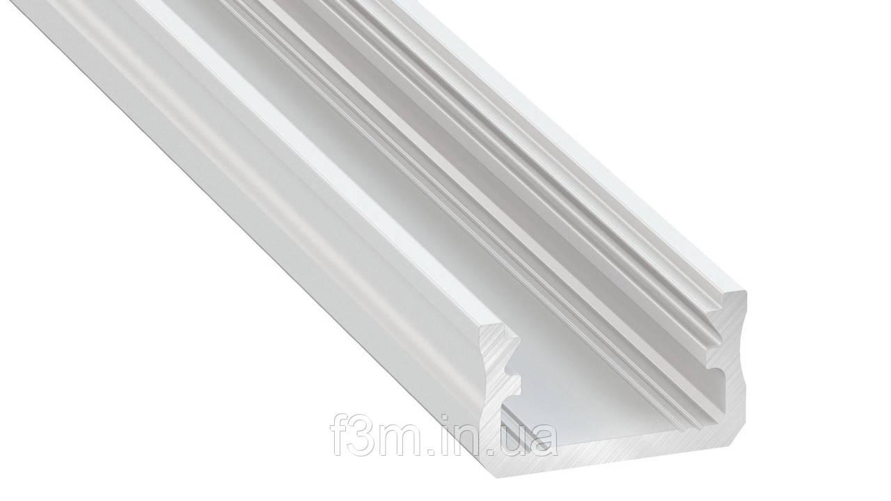 Накладной профиль алюминиевый для ленты LED: L=4150 мм,9.3×16.0 мм , БЕЛЫЙ, Grass Hopper