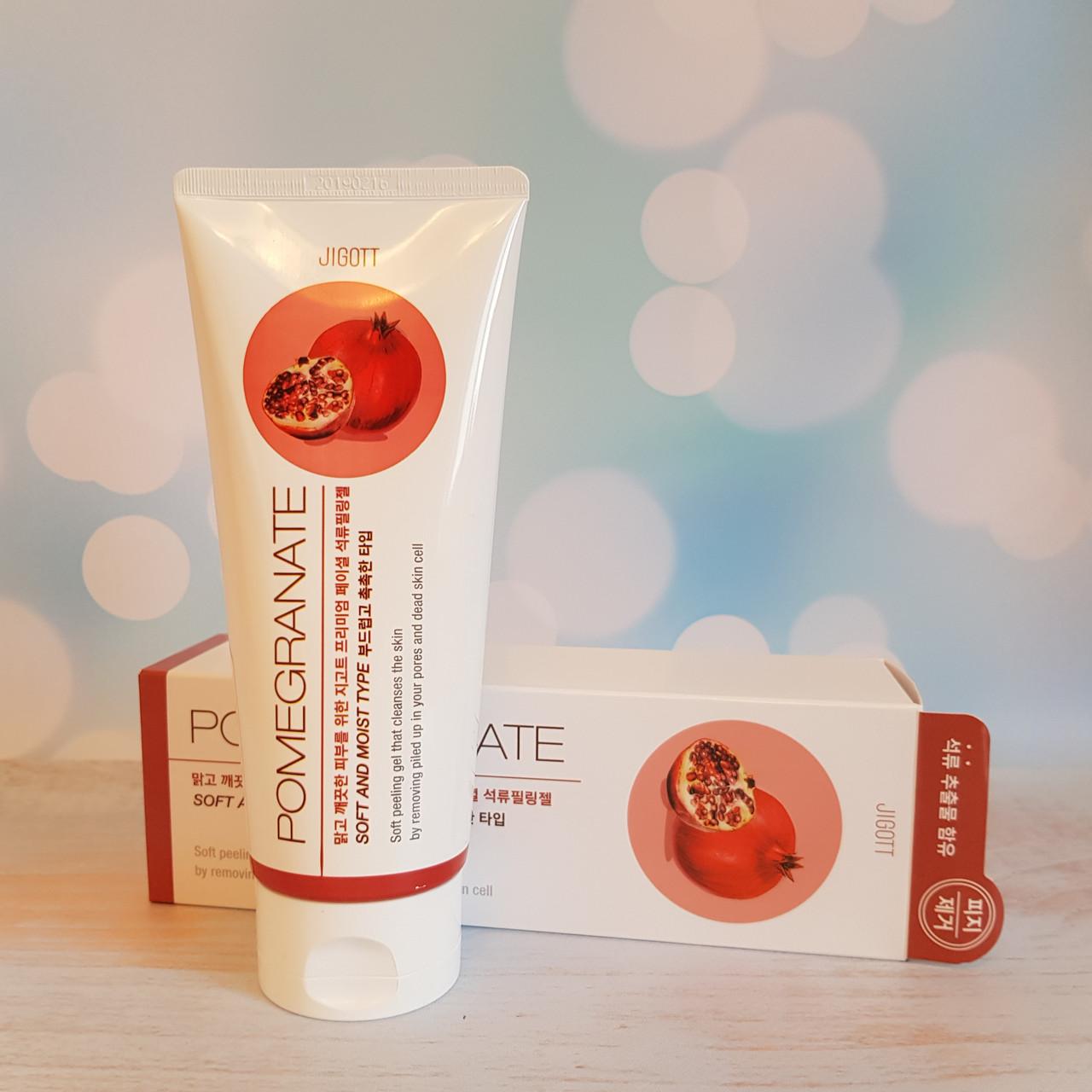 Пилинг-скатка с гранатом Jigott Pomegranate Premium Facial Peeling Gel 180 мл