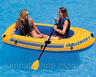 Надувний човен гребний 2-х місцева Challanger-2 Intex 68637