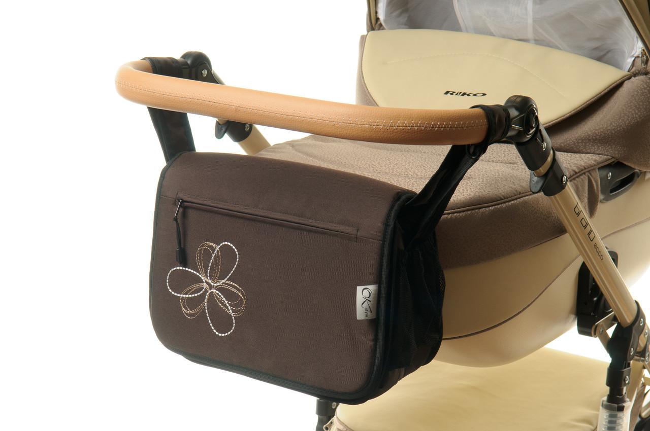 Сумка на коляску Ok Style Цветок Темно коричневый