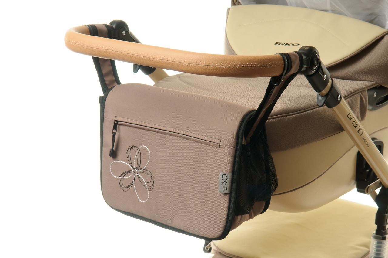 Сумка на коляску Ok Style Цветок Капучино