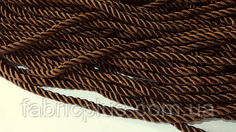 Шнур шторный атласный 5 мм коричневый