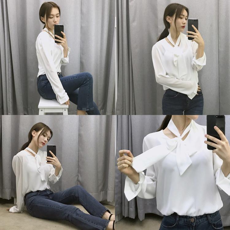 Женская блуза с крупным бантом 44-46 (в расцветках )