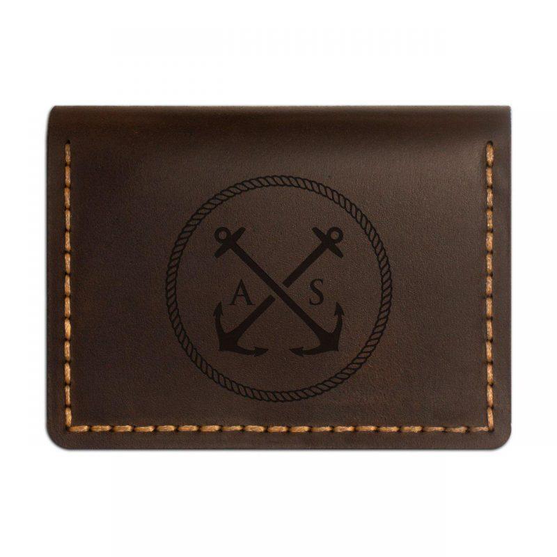 Обложка-портмоне кожаная для автодокументов и нового паспорта. Цвет коричневый