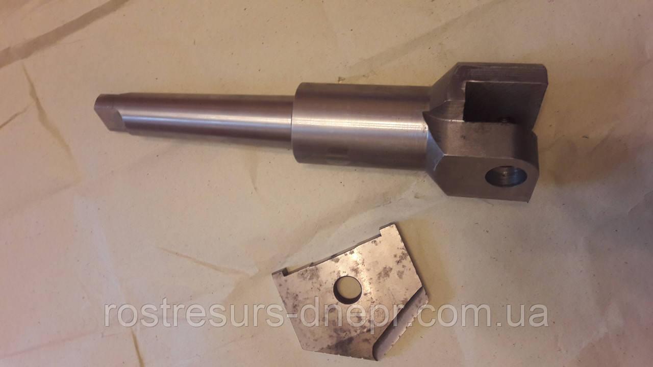 Сверло перовое сборное к/х ф105-130 мм (державка для перовой пластины) КМ5 L=375 мм
