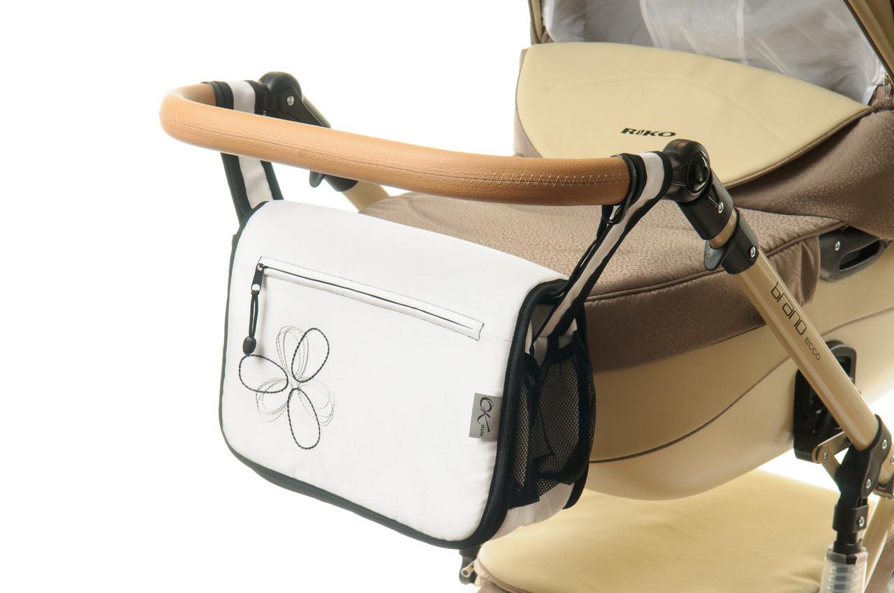 Сумка на коляску Ok Style Цветок Белый