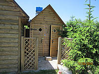Летний душ - туалет  из блокхауса