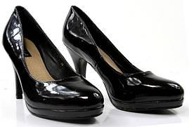 Елегантные лаковие Удобные и модные женские туфли черного цвета!